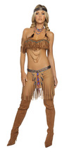 Sexy Roma Cherokee Warrior Indian Adult Halloween Complete Costume S/M M... - $59.00