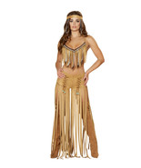 Sexy Roma Cherokee Hottie Indian Fringe Top Pan... - $85.00