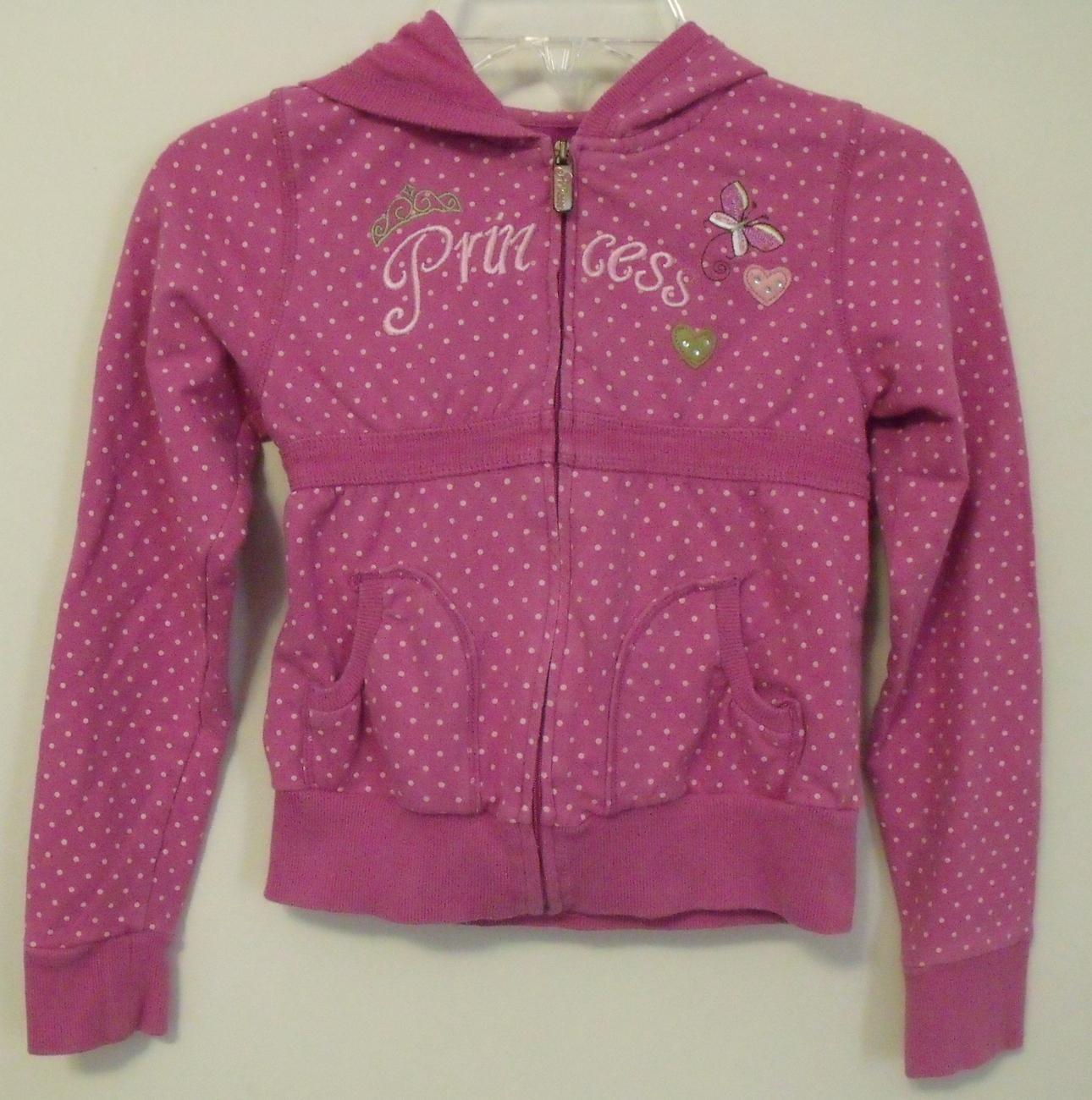 Disney princess pink hooded sweatshirt 6