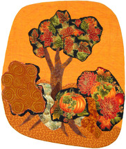 October: Quilted Art Wall Hanging - $355.00