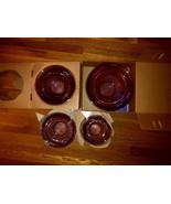 Cranberry Pyrex Crown Corning Four 4 Piece Mixing Bowl Set Rose Purple - $69.99