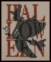 Shadow Words Halloween Witch cross stitch chart Hinzeit - $10.80