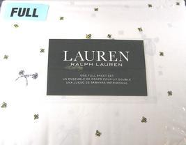 Ralph Lauren Bumblebees, Hives, Flowers on White Sheet Set Full - $78.00