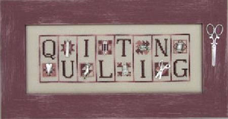 Quilting Charmed Mini Block cross stitch chart with charms Hinzeit - $21.60