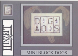 Dogs Charmed Mini Block cross stitch chart with charms Hinzeit - $13.50