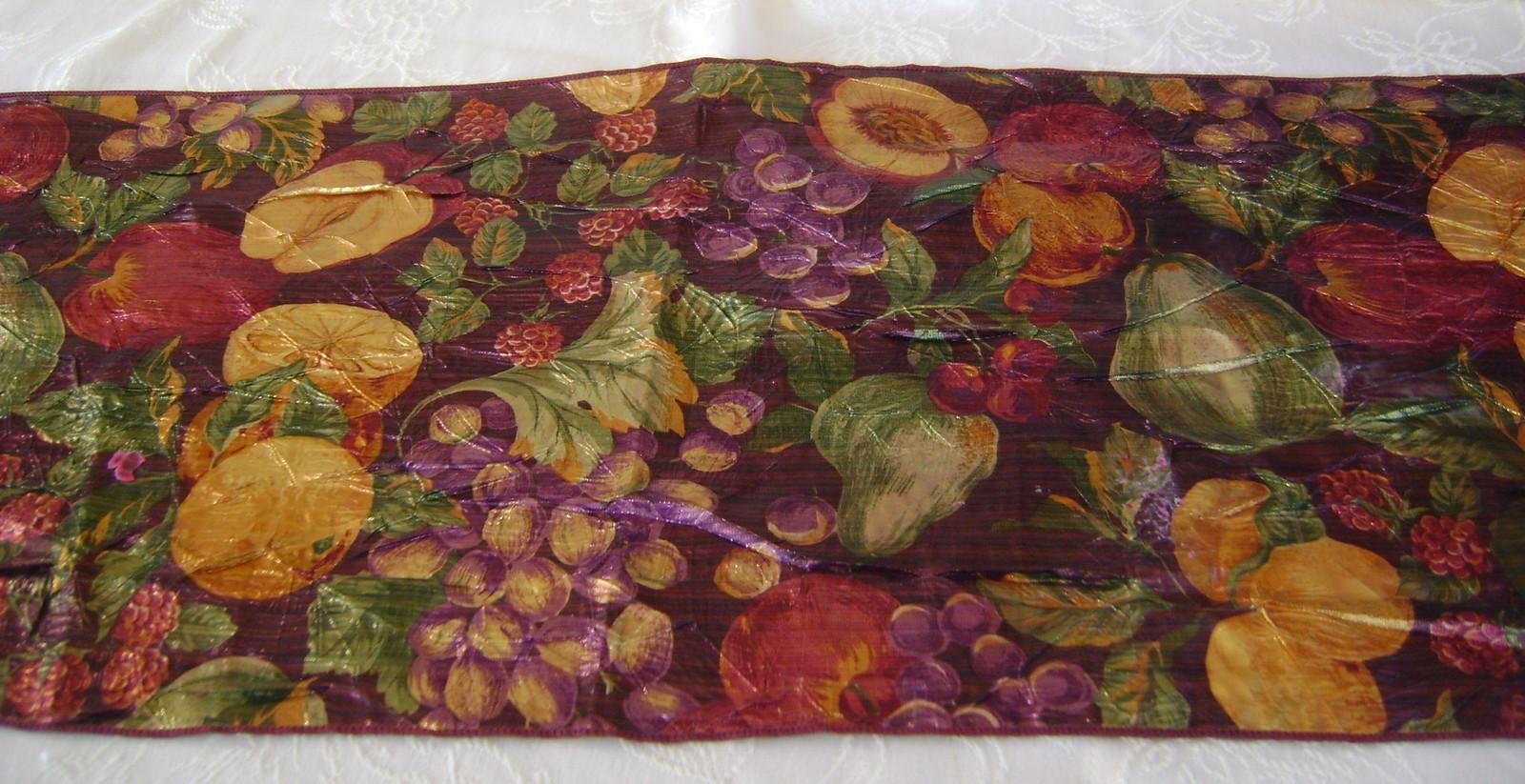 Harvest Fruit Table Runner, Beautiful!