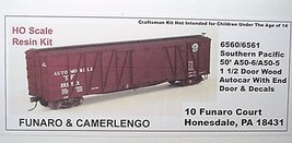 Funaro & Camerlengo HO SP AA-50-5 A50-6 SS 1 1/2 door Autocar  6560/6561 image 1