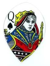 M508 Ace King Queen Jack of Spades Teardrop Pear Size Dart Flight 1 Set of 3 ... - $3.40