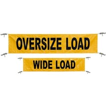 "Keeper 04903 Flags Yellow 18"" 84"" Reversible Oversize/Wide Load Banner With - $23.90"