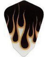 5 Sets of 3 Dart Flights - 30-2962 -Yellow Black Flames Kite Shape Poly ... - $7.50