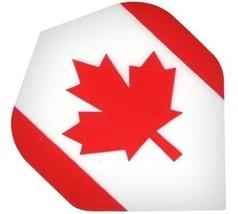 P519 Canadian Flag 1 Set of 3 Poly Standard Wide Shaped Dart Flights - $2.95