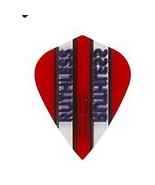 3 Sets of 3 Dart Flights - 1788 - Ruthless Red W/ Clear Panel Kite Doubl... - $5.50