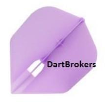 Purple L-Style Small Standard Shape Champagne Flights Darts Shafts - $9.95