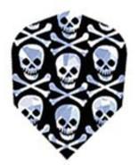 30-5441 2-D Glitter Skull Cross Bones Dart Flights - Standard - $2.84