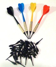 Dart Pro Plastic Soft Tip Darts, Lot of 12 Assorted Colors Plus 50 Extra Tips - $12.93