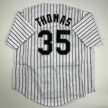 New FRANK THOMAS Chicago Pinstripe Custom Stitched Baseball Jersey Size ... - $49.99
