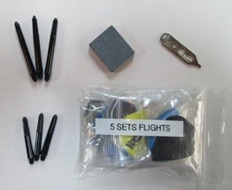 Dart Brokers Slim Steel Tip Darts Accessory Kit Halex flights shafts tips stone - $9.95