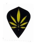 3 Sets of 3 Dart Flights - 4567 - Black Gold Pot Leaf Marijuana Cannabis... - $5.50