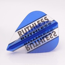 RUTHLESS Darts Flights Clear Panels Dark Blue Kite - $3.95