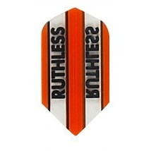 3 Sets of 3 Dart Flights - 1779 - Ruthless Orange Clear Panels Slim Double Th... - $5.50