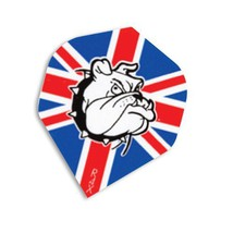 F7047 British Bulldog Ruthless Xtra Strong Dart Flights - 4 sets standard fli... - $5.14