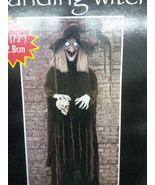 Animated Life Size 6ft Standing Halloween Witch... - $115.82