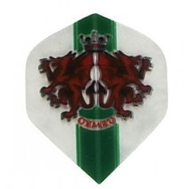"3 Sets of 3 Dart Flights - P516 - ""Wales"" Flag Poly Standard Flights - $5.50"