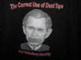 George W Bush USA President Duct Tape Homeland Security Satire Commedia T Shirt - $29.55