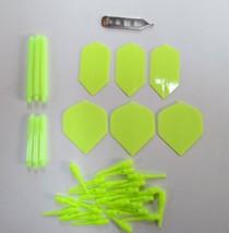 YELLOW Soft Tip Darts Accessory Kit flights tips shafts halex case tool - $9.95