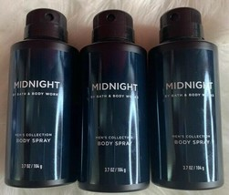 3-Midnight By Bath And Body Works Men's Collection Body Spray 3.7oz - $29.60