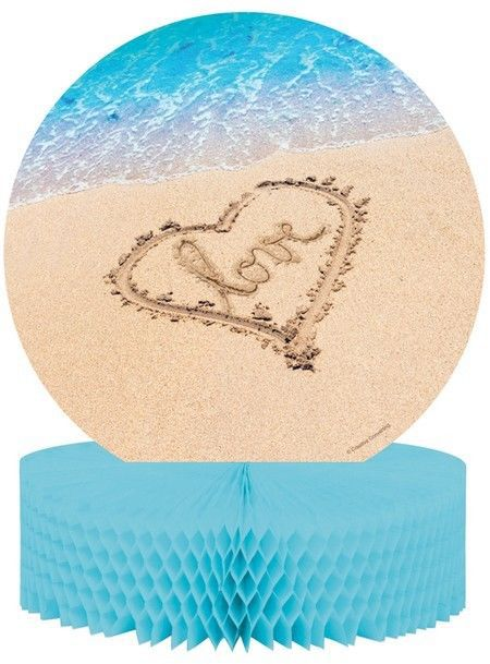 Beach Love Centerpiece Honeycomb Wedding Bridal Shower Luau Party