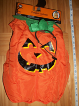 Pet Holiday Dog Costume Medium Smiling Pumpkin Halloween Outfit Hat Canine Tunic - $7.59