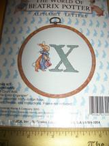 Peter Rabbit Craft Kit Bunny Beatrix Potter Cross Stitch Set Alphabet Letter X - $9.49