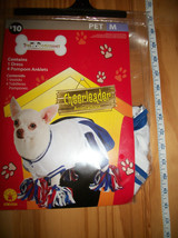 Rubies Pet Costume Medium Dog Cheerleader Outfit Dress Red White Blue Po... - $9.49