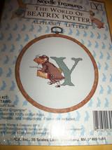 Peter Rabbit Craft Kit Mouse Beatrix Potter Cross Stitch New Alphabet Letter Y - $9.49
