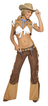 Roma 6PC Wild West Sheriff Cowgirl Adult Halloween Costume W/WO HAT S/M ... - $69.00+