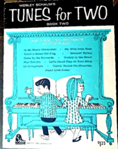 "Vintage 1964 Music Book ""Tunes for Two Book"" for Piano #6898 - $9.99"