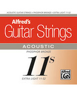 Guitar Strings/Alfred Brand/Acoustic 6 String/11's/Made in USA/Xtra Light - $9.99