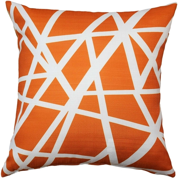 Pillow Decor - Bird's Nest Orange Throw Pillow 20X20