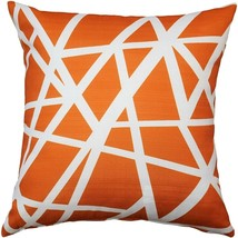 Pillow Decor - Bird's Nest Orange Throw Pillow 20X20 - $49.95