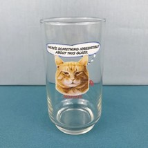 "Vintage 1981 9-Lives Cat Food ""Morris The Cat"" Advertisement Drinking Glass - $4.99"