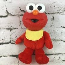 Sesame Street Baby Elmo Plush Doll Vinyl Head Stuffed Fisher Price Matte... - $14.84