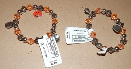 Halloween Bracelets Stretch Over Pumpkins Ghost Haunted House Boo 115U - $3.49