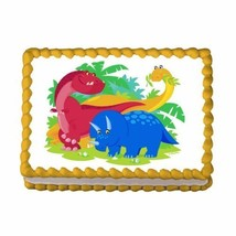 "3"" Round ~ Dinosaurs ~ Edible Image Cake/Cupcake Topper!!! [Misc.] - ₨599.16 INR"