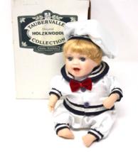 VTF Rare Holzknoddl Kathe Wohlfahrt Porcelain Wind Up Musical Sailor Bab... - $124.99