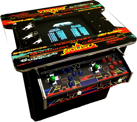 Cocktail Table Arcade Machine with Horizontal Games™