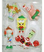 SPONGEBOB SQUAREPANTS GARY SQUIDWARD KRABS 5 PIECE CHRISTMAS TREE ORNAME... - $15.98