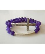 Two piece sideways cross and bar stretch bracel... - $13.29