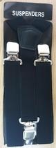 35mm Unisex Womens Mens Braces Plain Black Wide & Heavy Duty Suspenders ... - $9.87