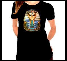 King Tut Mask Egyptian Pharaoh Inspired Ladies T-Shirt - $12.00